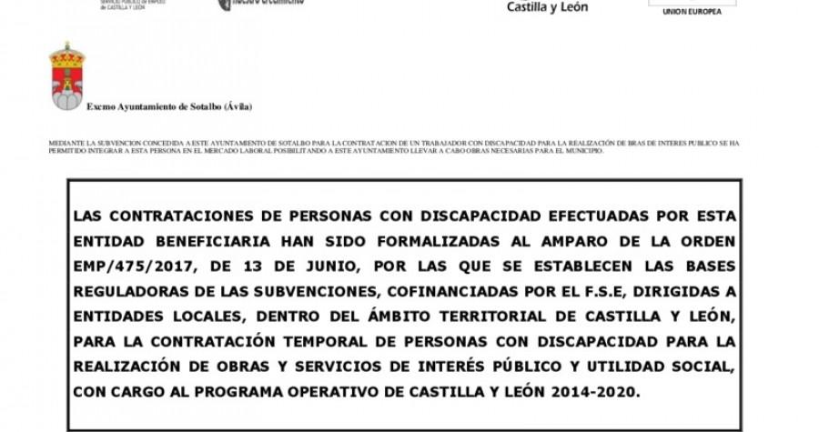 Subvencion discapacitados 2017